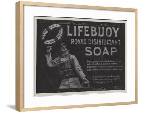 Advertisement, Lifebuoy Royal Disinfectant Soap--Framed Art Print