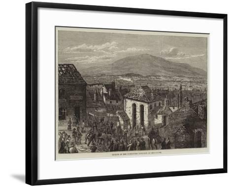 Effects of the Gunpowder Explosion at Bryn-Mawr--Framed Art Print