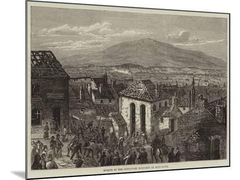 Effects of the Gunpowder Explosion at Bryn-Mawr--Mounted Giclee Print