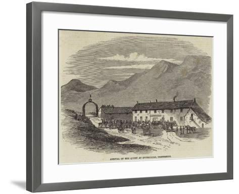 Arrival of the Queen at Invercauld, Perthshire--Framed Art Print