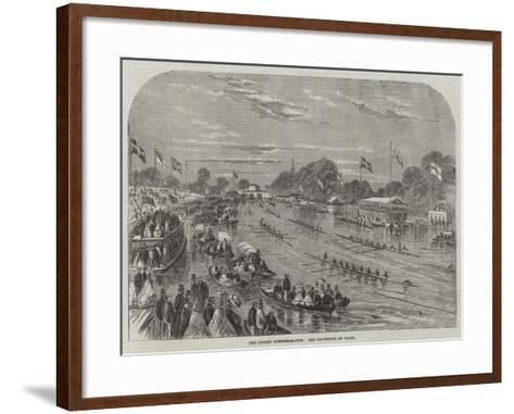 The Oxford Commemoration, the Procession of Boats--Framed Art Print