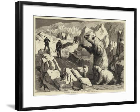 Christmas at the North Pole, a Hunt for a Dinner--Framed Art Print