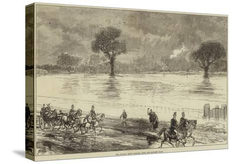 The Floods, Eton College, from the Datchet Road--Stretched Canvas Print