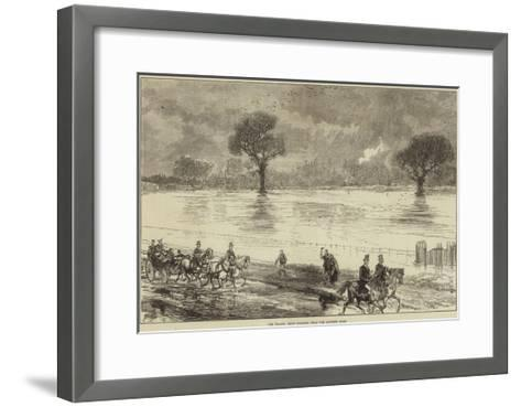 The Floods, Eton College, from the Datchet Road--Framed Art Print
