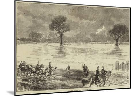 The Floods, Eton College, from the Datchet Road--Mounted Giclee Print