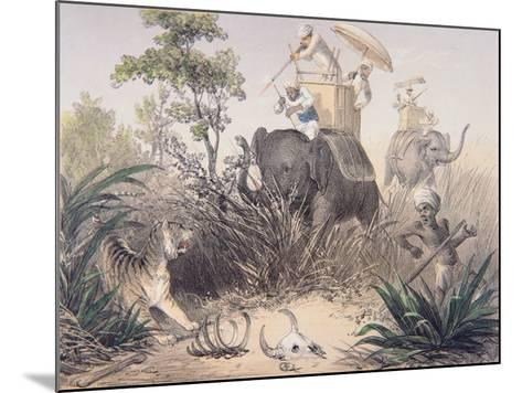 British Officers Tiger Shooting in India, 1860s--Mounted Giclee Print