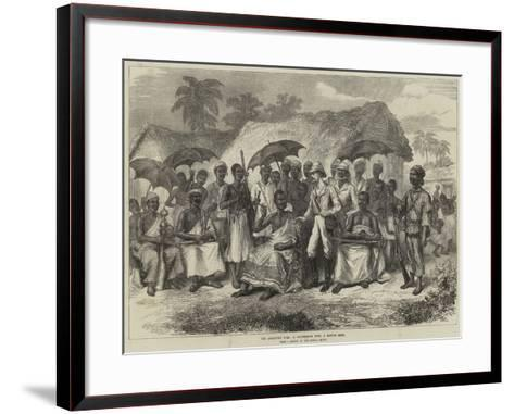 The Ashantee War, a Conference with a Native King--Framed Art Print