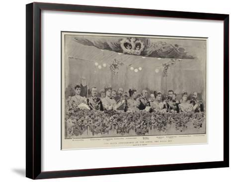 The State Performance at the Opera, the Royal Box--Framed Art Print