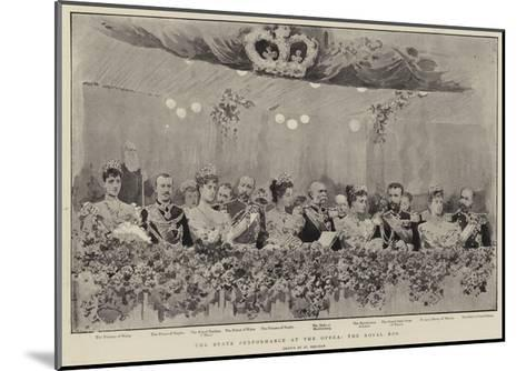 The State Performance at the Opera, the Royal Box--Mounted Giclee Print