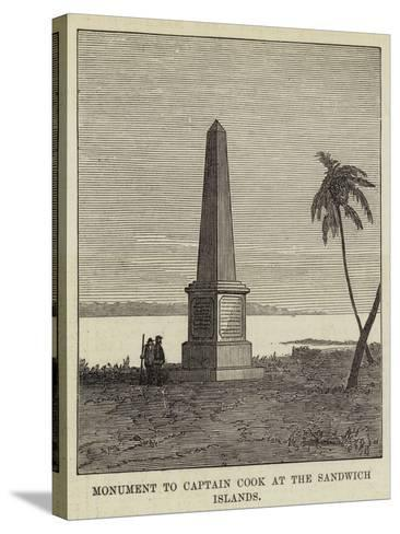 Monument to Captain Cook at the Sandwich Islands--Stretched Canvas Print