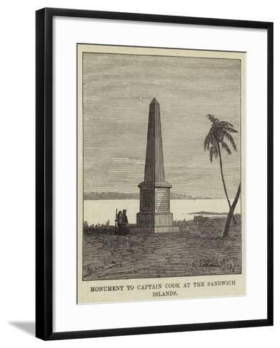 Monument to Captain Cook at the Sandwich Islands--Framed Art Print