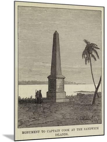 Monument to Captain Cook at the Sandwich Islands--Mounted Giclee Print