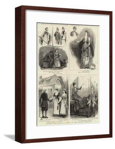 Scenes from Popular Plays at the London Theatres--Framed Art Print