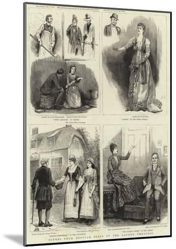 Scenes from Popular Plays at the London Theatres--Mounted Giclee Print