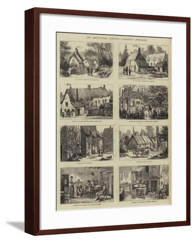 The Agricultural Question, Labourers' Dwellings--Framed Art Print