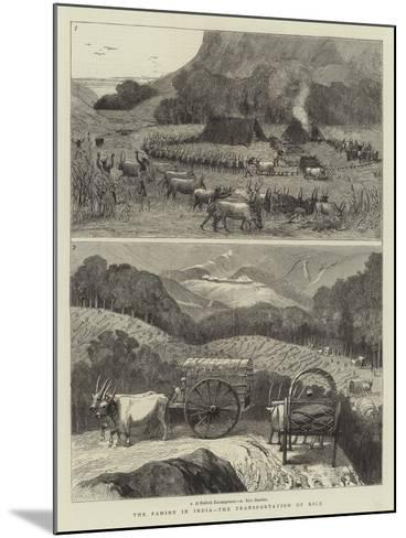 The Famine in India, the Transportation of Rice--Mounted Giclee Print