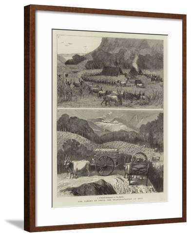 The Famine in India, the Transportation of Rice--Framed Art Print