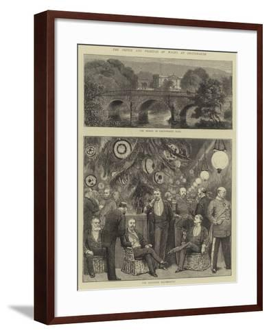 The Prince and Princess of Wales at Chatsworth--Framed Art Print