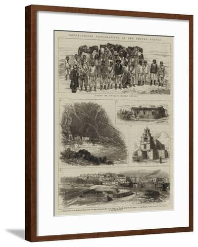 Geographical Explorations in the United States--Framed Art Print