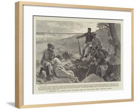 A Tombstone in a Distant Land, by Fergus Hume--Framed Art Print