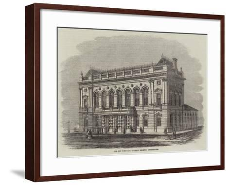 The New Townhall at Great Grimsby, Lincolnshire--Framed Art Print