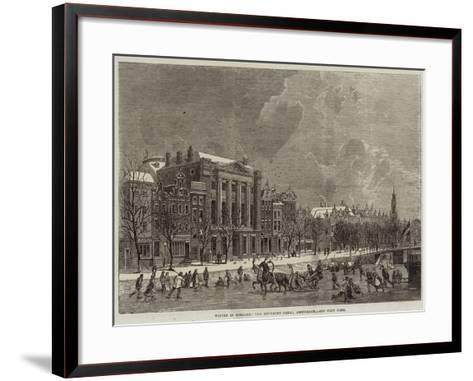 Winter in Holland, the Emperor's Canal, Amsterdam--Framed Art Print