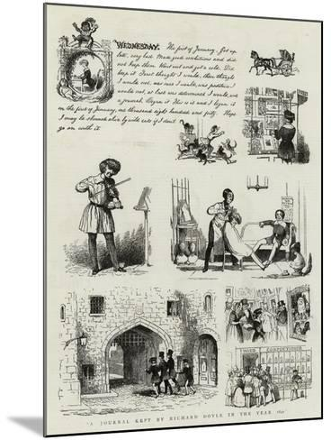 A Journal Kept by Richard Doyle in the Year 1840--Mounted Giclee Print