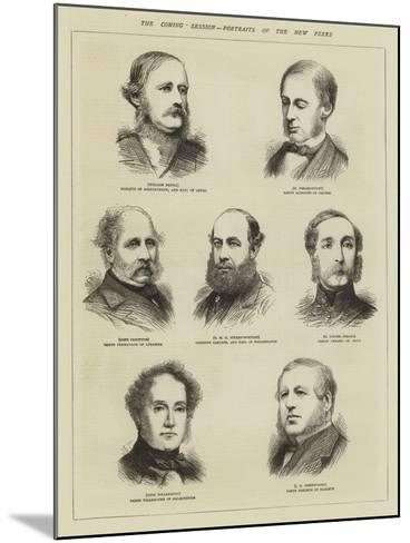 The Coming Session, Portraits of the New Peers--Mounted Giclee Print