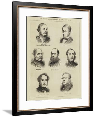 The Coming Session, Portraits of the New Peers--Framed Art Print