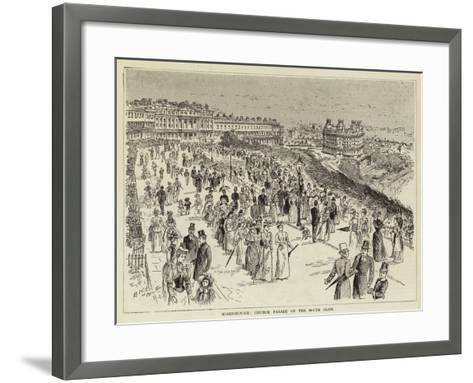 Scarborough, Church Parade on the South Cliff--Framed Art Print