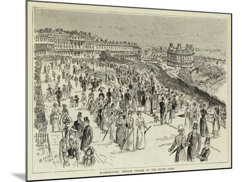 Scarborough, Church Parade on the South Cliff--Mounted Giclee Print