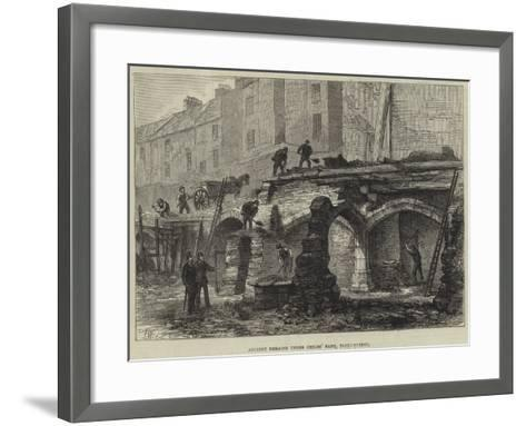 Ancient Remains under Childs' Bank, Fleet-Street--Framed Art Print