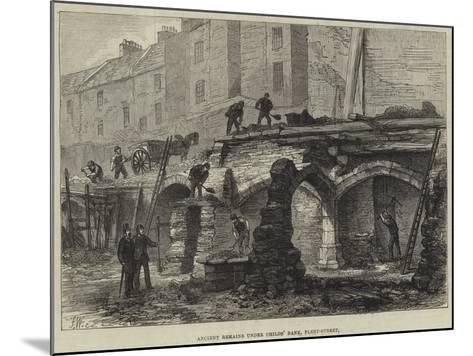 Ancient Remains under Childs' Bank, Fleet-Street--Mounted Giclee Print