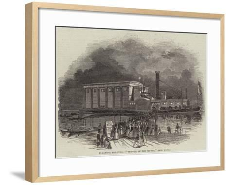Floating Theatre, Temple of the Muses, New York--Framed Art Print
