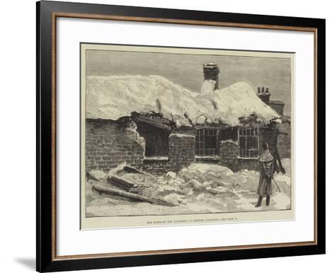 The Scene of the Explosion at Salford Barracks--Framed Art Print