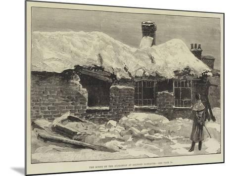 The Scene of the Explosion at Salford Barracks--Mounted Giclee Print