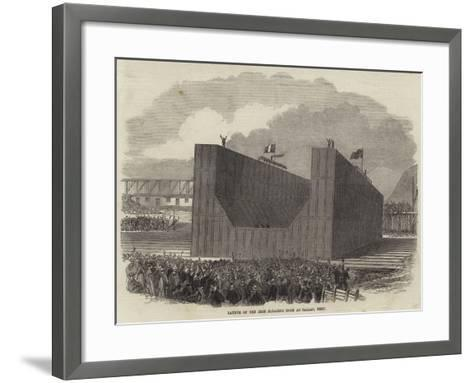 Launch of the Iron Floating Dock at Callao, Peru--Framed Art Print