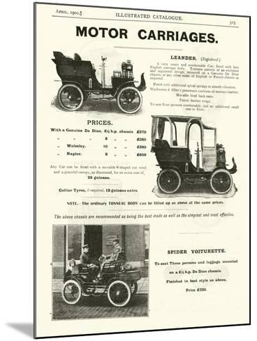 Page from the Army and Navy Catalogue, April 1902--Mounted Giclee Print