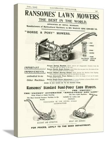 Page from the Army and Navy Catalogue, April 1902--Stretched Canvas Print