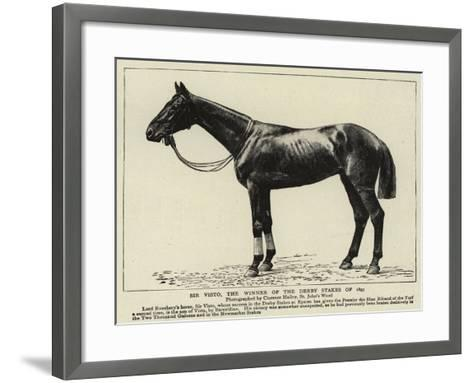 Sir Visto, the Winner of the Derby Stakes of 1895--Framed Art Print