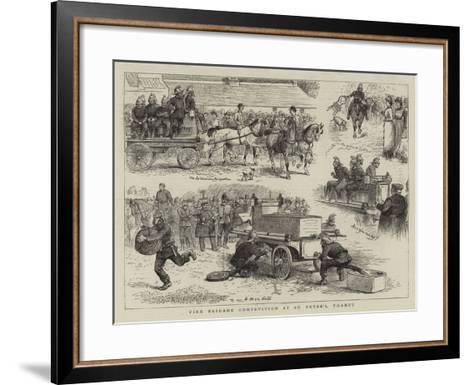 Fire Brigade Competition at St Peter's, Thanet--Framed Art Print