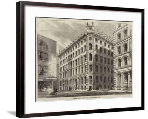 London Street Architecture, Cannon-Street West--Framed Art Print