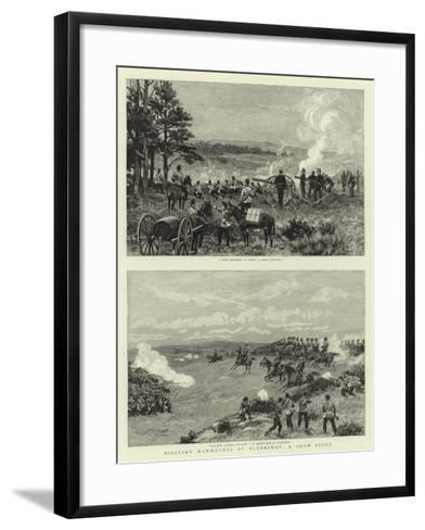 Military Manoeuvres at Aldershot, a Sham Fight--Framed Art Print