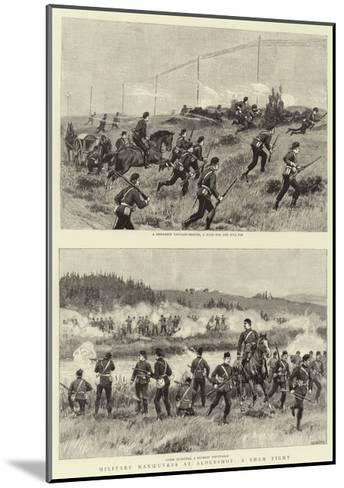 Military Manoeuvres at Aldershot, a Sham Fight--Mounted Giclee Print