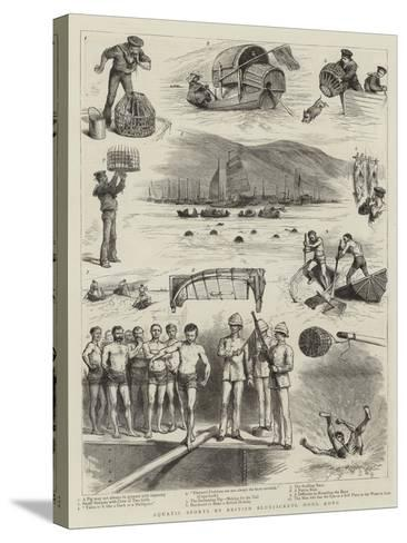 Aquatic Sports by British Bluejackets, Hong Kong--Stretched Canvas Print