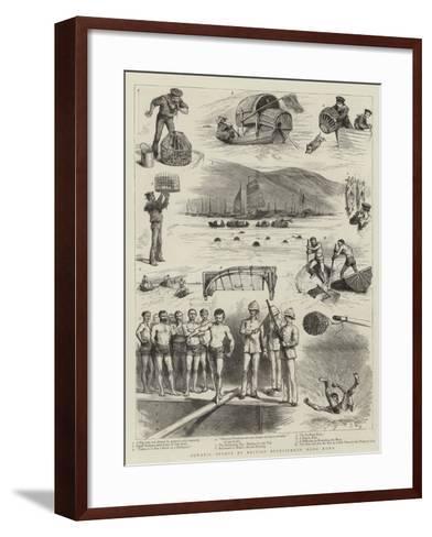 Aquatic Sports by British Bluejackets, Hong Kong--Framed Art Print