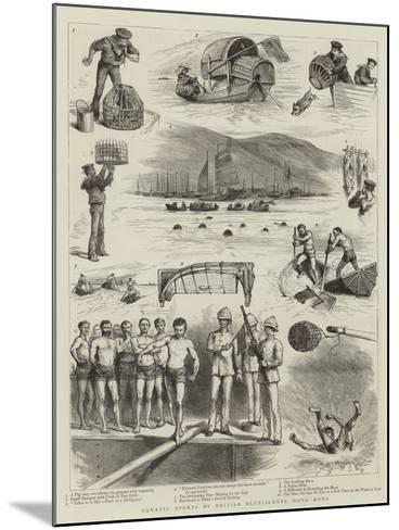 Aquatic Sports by British Bluejackets, Hong Kong--Mounted Giclee Print