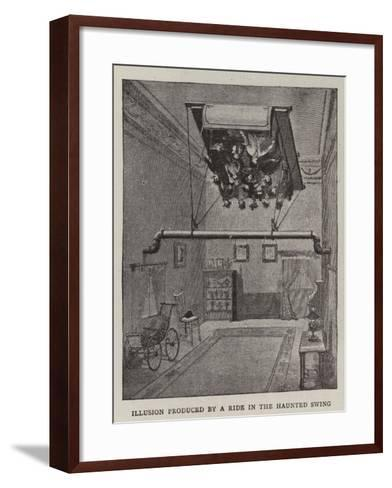 Illusion Produced by a Ride in the Haunted Swing--Framed Art Print