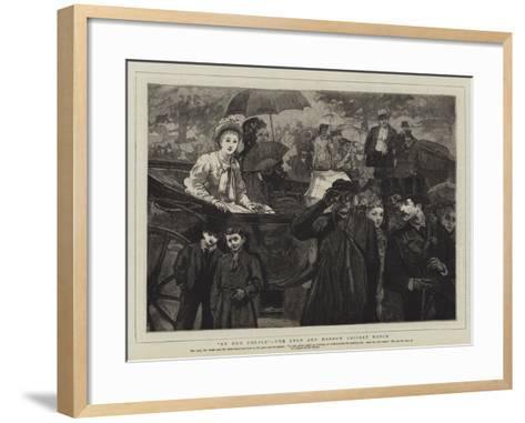 An Odd Couple, the Eton and Harrow Cricket Match--Framed Art Print