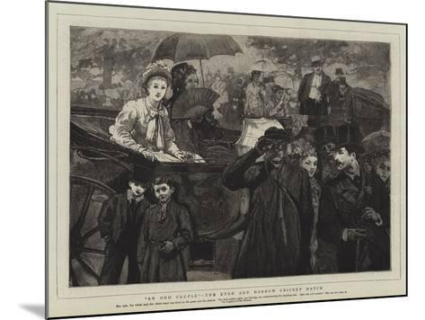 An Odd Couple, the Eton and Harrow Cricket Match--Mounted Giclee Print